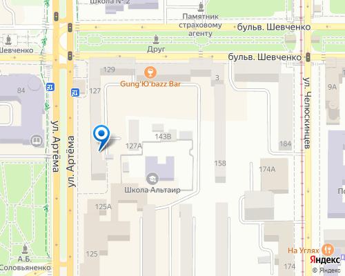 Расположение магазина NSP в Донецке на Яндекс карте