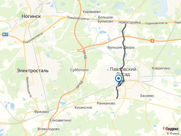 Схема проезда к Заводу по металлообработке (Павловский Посад) на большой карте Яндекса
