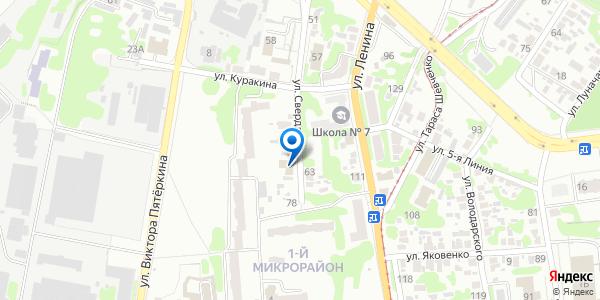 Расположение отдела миграционной службы Артемовского РОВД МВД ЛНР на карте