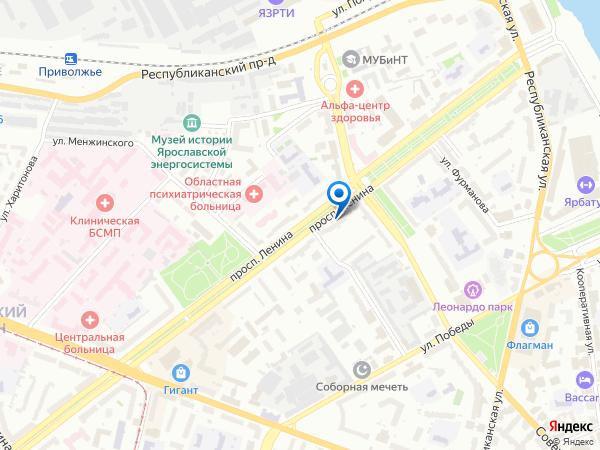 в Ярославле, купить в Ярославле: проспект Ленина, д.15 помещение 1-го этажа, офис 40-46