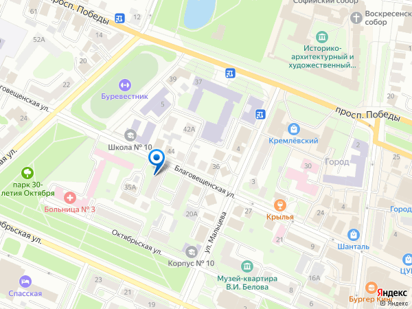 Карта с адресом пункта выдачи