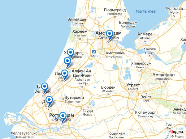 Маршрут на велосипедах по Голландии