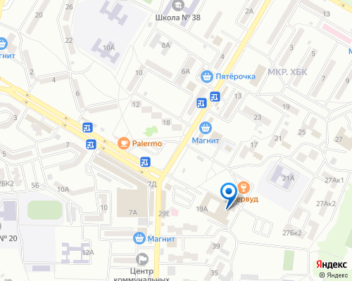 Расположение магазина NSP в Шахтах на Яндекс карте