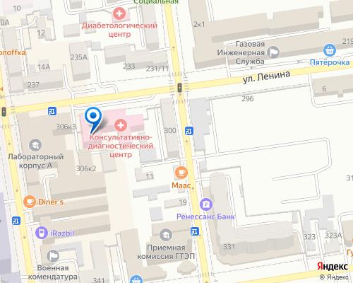 Расположение магазина NSP в Ставрополе на Яндекс карте