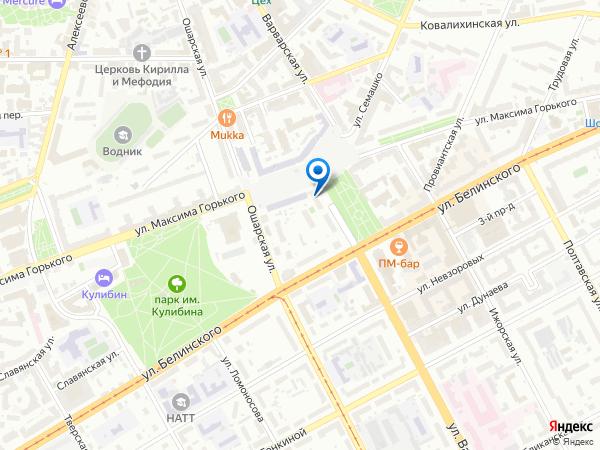 Аренда теплохода: наш офис на карте Нижнего Новгорода