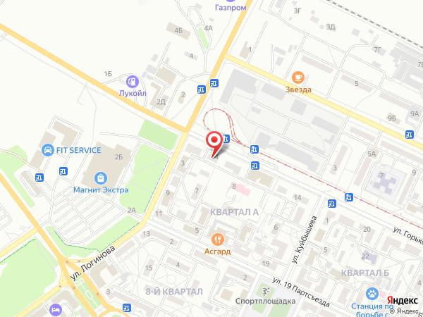 Печатная версия схемы проезда к филиалу КИП-Сервис в Волжском