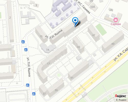 Расположение магазина NSP в Грозном на Яндекс карте