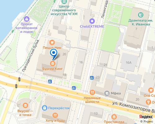 Расположение магазина NSP в Чебоксарах на Яндекс карте