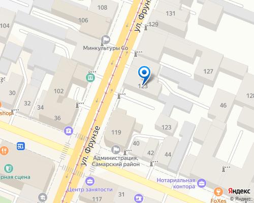 Расположение магазина NSP в Самаре на Яндекс карте