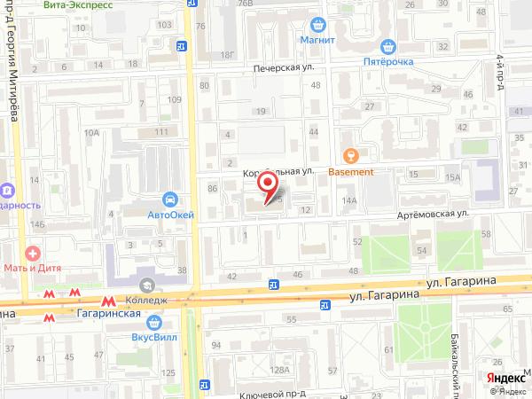 Печатная версия схемы проезда к филиалу КИП-Сервис в Самаре