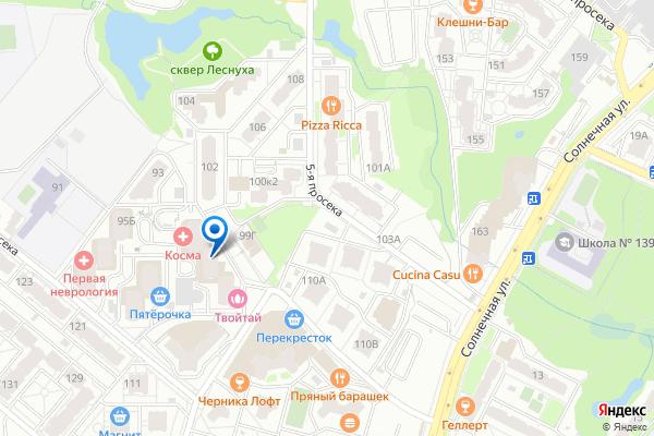 Адрес представителя в Самаре на карте
