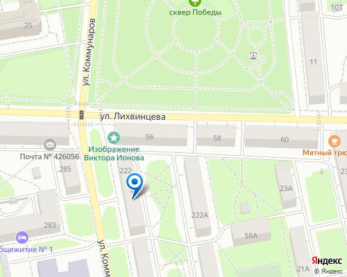 Расположение магазина NSP в Ижевске на Яндекс карте