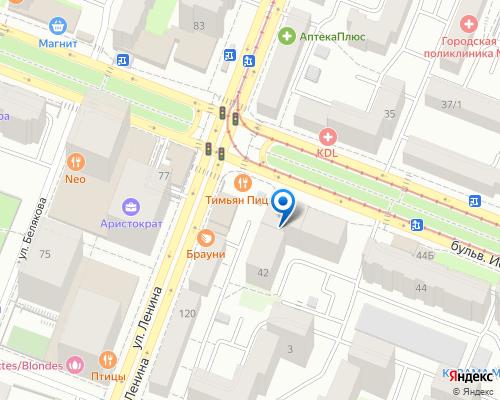 Расположение магазина NSP в Уфе на Яндекс карте