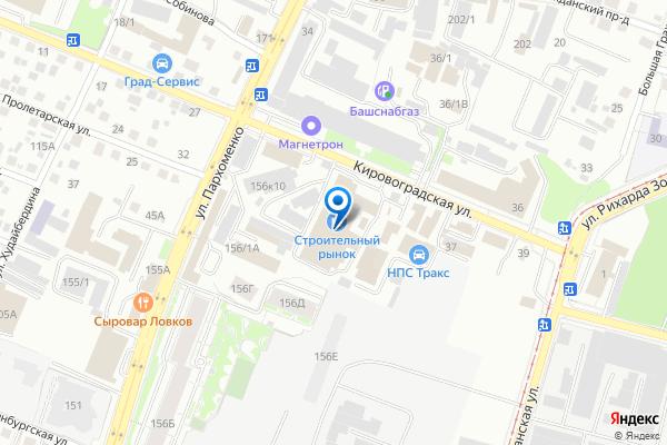 Адрес представителя в Уфе на карте