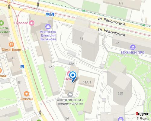 Расположение магазина NSP в Перми на Яндекс карте