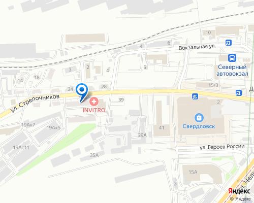 Расположение магазина NSP в Екатеринбурге на Яндекс карте