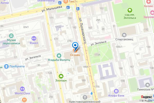 Адрес офиса компании на карте
