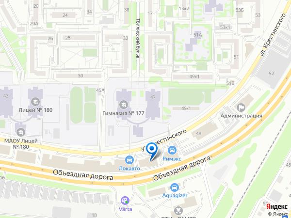 Карта местоположения офиса компании