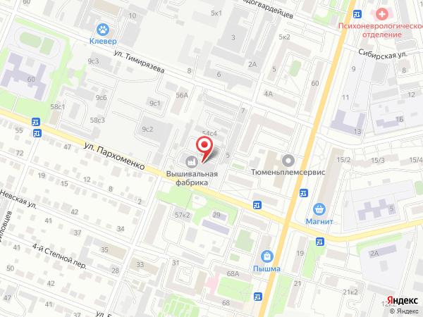 Печатная версия схемы проезда к филиалу КИП-Сервис в Тюмени