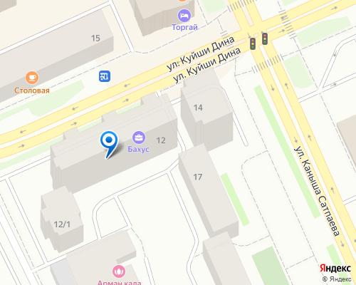 Расположение магазина NSP в Астане на Яндекс карте