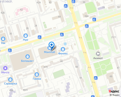 Расположение магазина NSP в Экибастузе на Яндекс карте