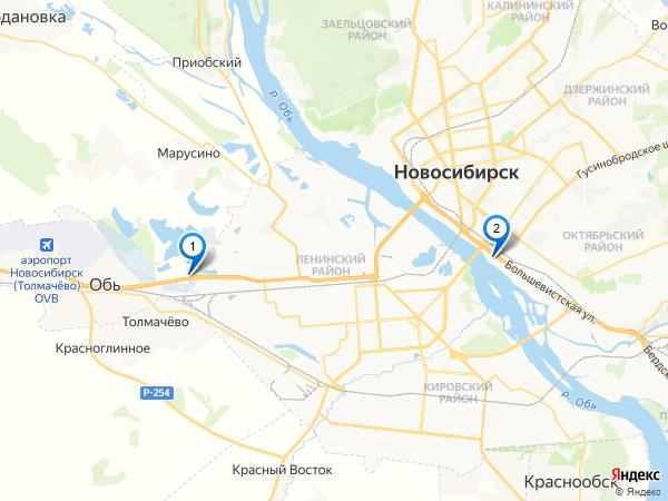 Карта дилеров Mitsubishi в Новосибирске