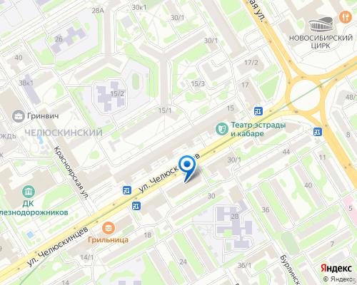 Расположение магазина NSP в Новосибирске на Яндекс карте