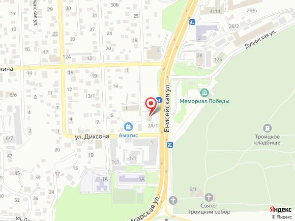 Печатная версия схемы проезда к филиалу КИП-Сервис в Красноярске