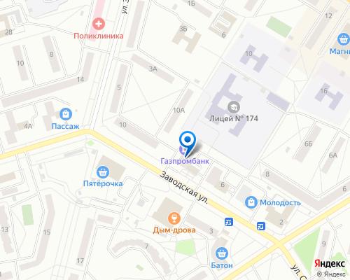 Расположение магазина NSP в Зеленогорске на Яндекс карте