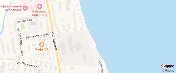 Набережная улица на карте поселка Эгвекинот с номерами домов