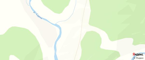 Карта местечка Болдога в Бурятии с улицами и номерами домов