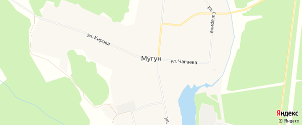 Карта села Мугун в Иркутской области с улицами и номерами домов