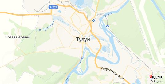 Карта Тулуна с улицами и домами подробная. Показать со спутника номера домов онлайн