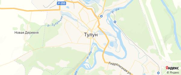 Карта Тулуна с районами, улицами и номерами домов