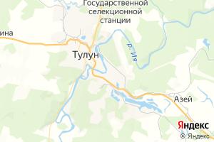Карта г. Тулун