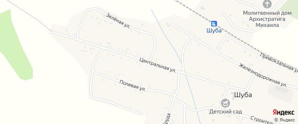 Центральная улица на карте станции Шубы Иркутской области с номерами домов