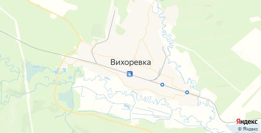 Карта Вихоревки с улицами и домами подробная. Показать со спутника номера домов онлайн
