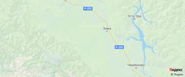 Карта Зиминского района Иркутской области с городами и населенными пунктами