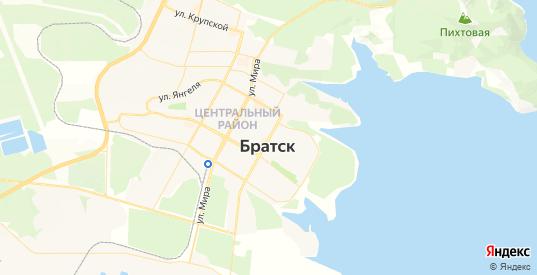 Карта Братска с улицами и домами подробная. Показать со спутника номера домов онлайн