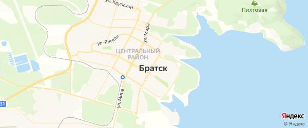 Карта Братска с районами, улицами и номерами домов