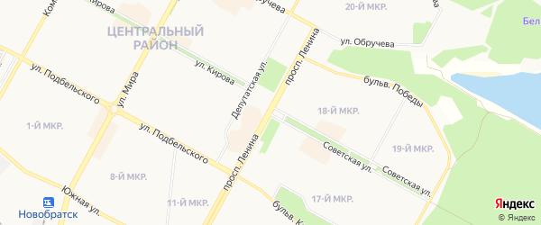 Планировочный район П 28 на карте Братска с номерами домов