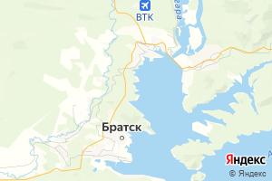 Карта г. Братск Иркутская область