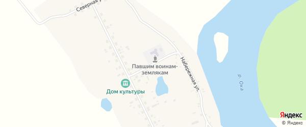 Юбилейная улица на карте села Перевоза Иркутской области с номерами домов