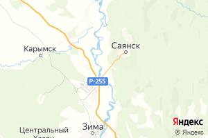 Карта г. Саянск Иркутская область