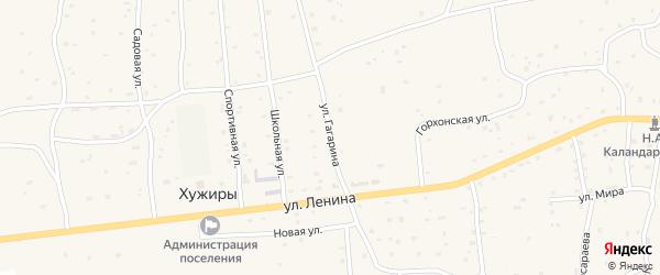Улица Гагарина на карте улуса Хужиры с номерами домов