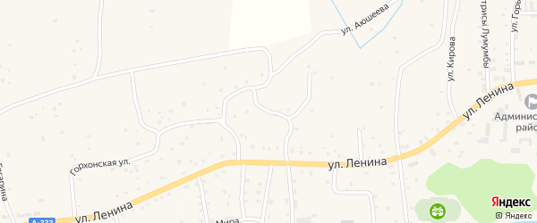 Улица Лермонтова на карте улуса Хужиры с номерами домов