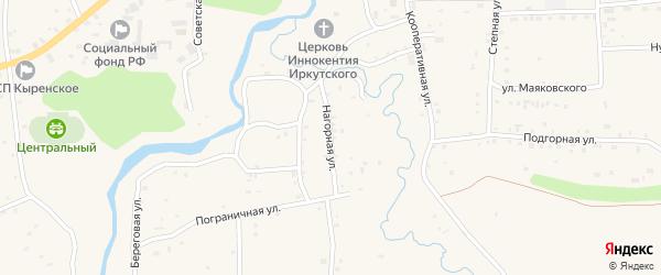 Нагорная улица на карте села Кырена с номерами домов