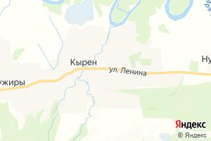Карта с. Кырен Республика Бурятия