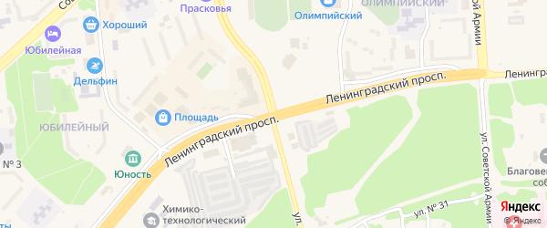 Улица В.И.Ленина на карте Саянска с номерами домов