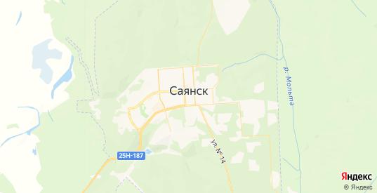 Карта Саянска с улицами и домами подробная. Показать со спутника номера домов онлайн